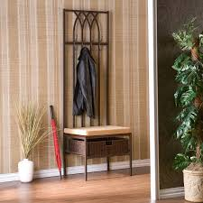 Hall Storage Bench And Coat Rack Mudroom Storage Bench With Hooks Front Entrance Bench Hall Tree 95