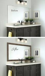 bathroom upgrade. Frame The Bathroom Mirror In Minutes With MirrorMate. Upgrade
