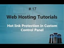 Web Hosting Training 17 | Hot link Protection in Custom Control ...
