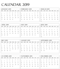 Calendar 2019 Vertex42 With Printable January Holidays Free