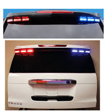 Code 3 Warning Lights Code 3 Citadel Rear Spoiler Warning Light Bar For 2007 2019 Chevy Tahoe With Xt4 Single Color Per Light Heads Xt4 Sc Th