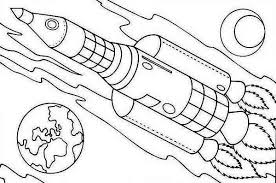 Small Picture rocket ship on earth orbit coloring page Download Print Online