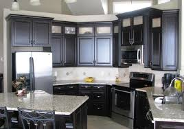 used black kitchen cabinets