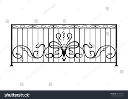 Balcony Fence wrought iron balcony fence stock vector 479581663 shutterstock 7838 by guidejewelry.us