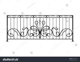 Balcony Fence wrought iron balcony fence stock vector 479581663 shutterstock 7838 by xevi.us