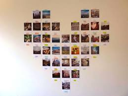 white heart collage photo frame heart collage picture frame picture frame collage ideas for the wall heart heart shaped collage picture frame
