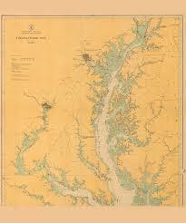 Chesapeake Bay Maps Charts Historical Nautical Chart 78 A 00 1914 Chesapeake Bay