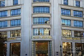 louis vuitton storefront. paris louis vuitton fashion boutique - designer storefront in poster l