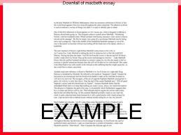 downfall of macbeth essay term paper academic service downfall of macbeth essay the tragic downfall of macbeth essaysin william shakespeare¡s macbeth