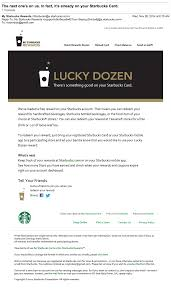 behavioral emails examples ideas and best practices starbucks behavioral email