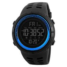 mens sports watches countdown pressure compass watch alarm chrono led digital wrist waterproof clock relogio masculino