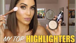 my top 5 highlighters tutorial makeup tutorial