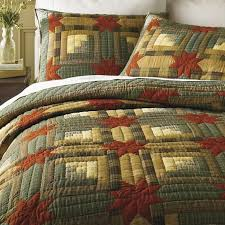 47 best Crochet Quilts images on Pinterest | Blanket patterns ... & Superb comfort and rustic charm define our handsome log cabin quilt. A  contemporary take on an American classic, the rich green, gold, and umber  yarn-dyed ... Adamdwight.com
