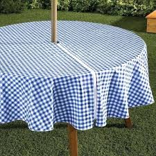 round outdoor tablecloth impressive patio tablecloths with umbrella hole for attractive