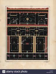 Schwarze Wand Dekoration Aus Dem Triclinium Oder Esszimmer