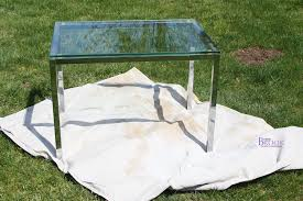 spray painting metal table porch spruce up