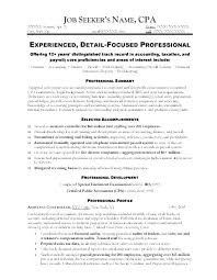 Financial Accounting Manager Sample Resume Inspiration Resume Template For Accountant Accounting Manager Resume Template
