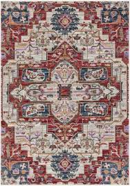 carpet art deco symmetry rectangular cream transitional woven area