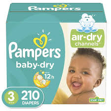 Pampers Baby Dry Diapers Size 3 210 Count Walmart Com