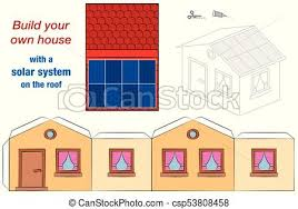 Solar System Roof House Template