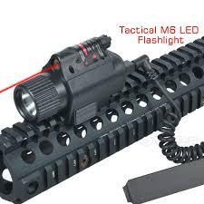 Tactical Shotgun Laser Light Combo Tactical Red Dot Laser Sight Led Flashlight Combo For Riflehotgun 20mm Rail