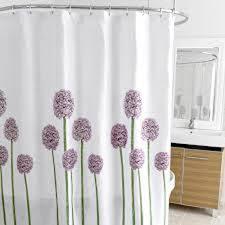 allium splash fabric shower curtain  curtain  bath outlet
