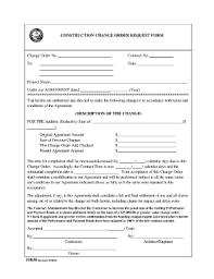 Construction Change Order Form Fillable Online co escambia fl CONSTRUCTION CHANGE ORDER REQUEST 2