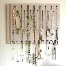 homemade necklace holder diy necklace holder frame