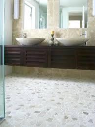 Great Fantastic Pebble Bathroom Floor Tiles Tile Ideas Pebble Floor