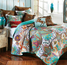 western bedding sets twin size paisley brilliance quilt set lone star western decor