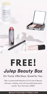 julep free subscription box beauty vegan makeup box subscription box review