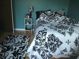black and white damask bedding black and white damask bedding with teal