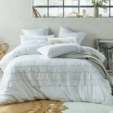 sku acca1260 white boho tassels linen blend quilt cover set is also sometimes listed under the following manufacturer numbers 68476 68483 68490 68506