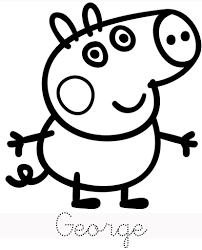 Coloring Pages Photo Peppa Pig Colouring Pages To Print Images