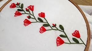 Embroidery Feather Designs Hand Embroidery Feather Stitch Hand Embroidery Designs