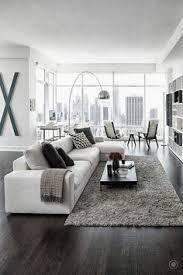 Image Sofa Pinterest Awesome Black White Wood Glass Interior Modern Living Room