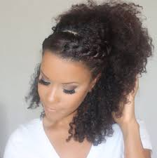 Natural Hairstyles Ponytails 3 No Heat Curly Styles For Spring Cute Curly Girls Pinterest