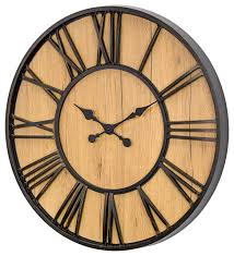 mdf and plastic oversized wall clock