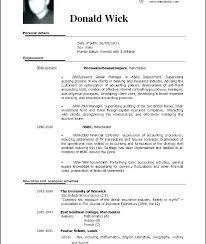 Cv Temp Professional Resume Cv Template Icojudge Co