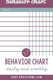 Weekly Behavior Chart Behavior Chart Tracker Weekly And Daily