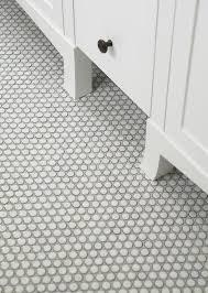 ann sacks savoy penny tiles with laticrete silver shadow grout