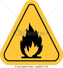 vector warning icons in yellow triangle fire dangerous csp40717140