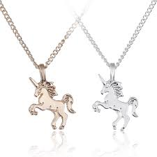 details about women unicorn pendant necklace gold clavicle chains silver choker jewelry gift