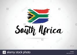 South Africa Graphic Design South Africa Country Flag Concept With Grunge Design