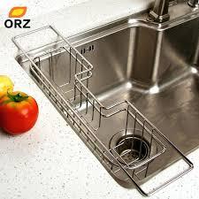 dish rack in sink stainless steel drainer drying sink rack basket holder kitchen utensils storage dish