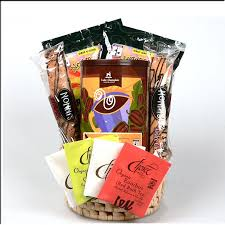 gift basket gourmet organic coffee chocolate and teas with
