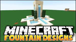 Minecraft Water Fountain Designs Minecraft Fountain Designs Ideas