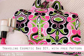 cosmetic bag diy with free pattern