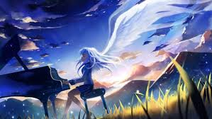 Please contact us if you want to publish an anime manga wallpaper. Piano Angel Anime Girls Tachibana Kanade Angel Beats Anime Manga Wallpapers Hd Desktop And Mobile Backgrounds