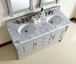Traditional Bathroom Sinks Abstron 60 Inch Urban Grey Finish Double Traditional Bathroom